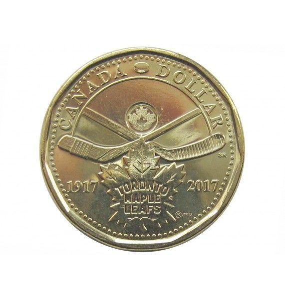 Канада 1 доллар 2017 г. (100 лет хоккейному клубу Toronto Maple Leafs)