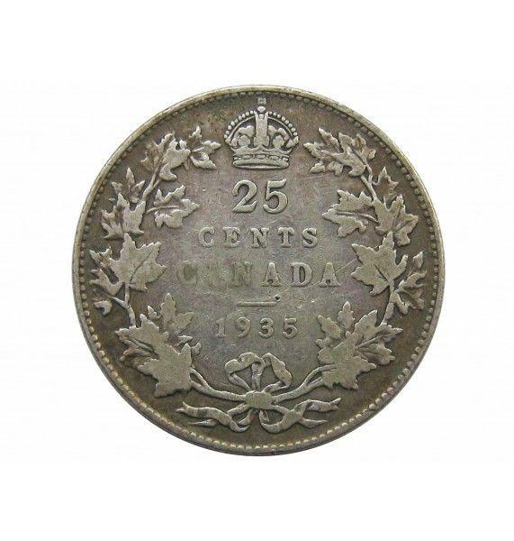 Канада 25 центов 1935 г.