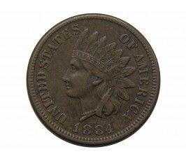 США 1 цент 1884 г.