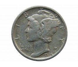 США дайм (10 центов) 1925 г. D