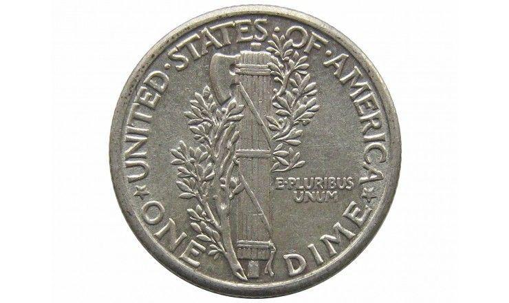 США дайм (10 центов) 1927 г.