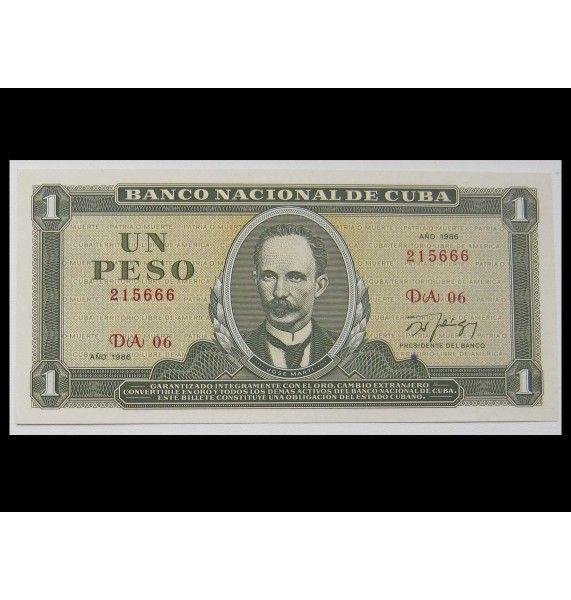 Куба 1 песо 1986 г.