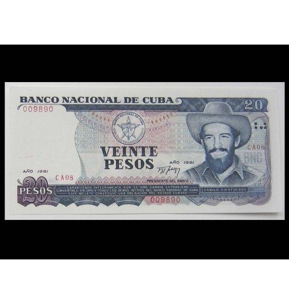 Куба 20 песо 1991 г.