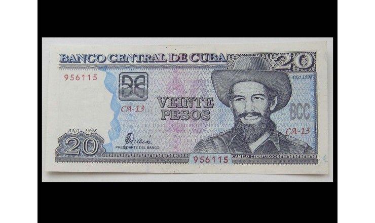 Куба 20 песо 1998 г.