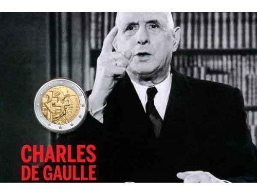 Генерал Де Голль на новой монете Франции.