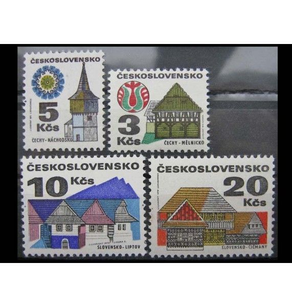 """Чехословакия 1972 г. """"Старые здания"""""""