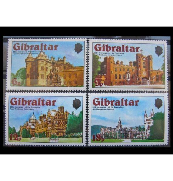 """Гибралтар 1978 г. """"25-летие коронации Королевы Елизаветы II"""""""