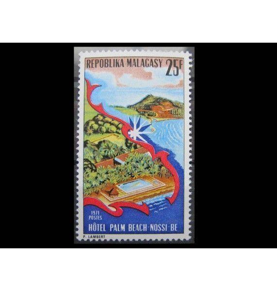 """Мадагаскар 1971 г. """"Отель «Палм Бич» в Нуси-Бе"""""""