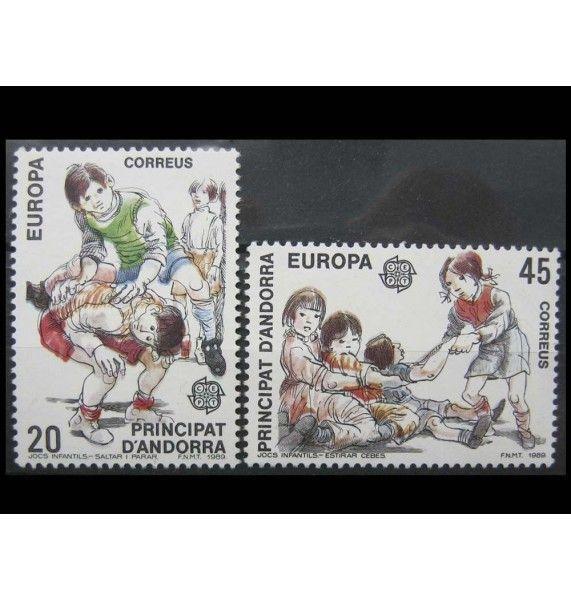 """Андорра (испанская) 1989 г. """"Детские игры"""""""