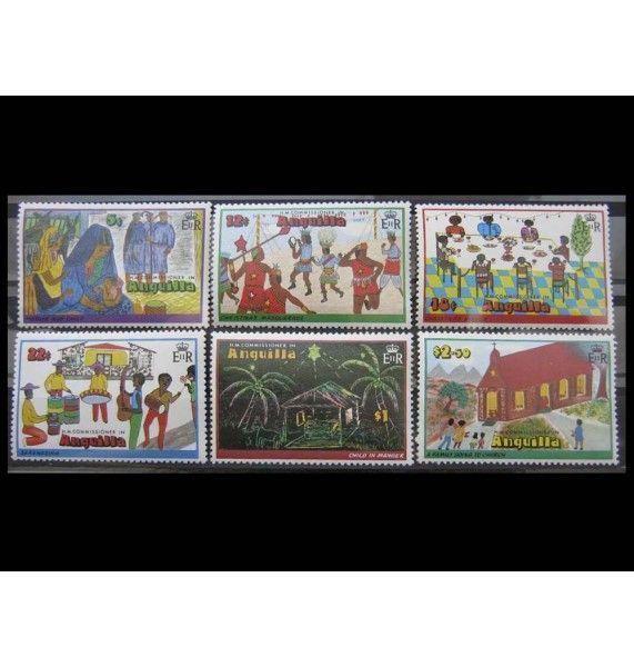 """Ангилья 1978 г. """"Рождество: детские рисунки"""""""