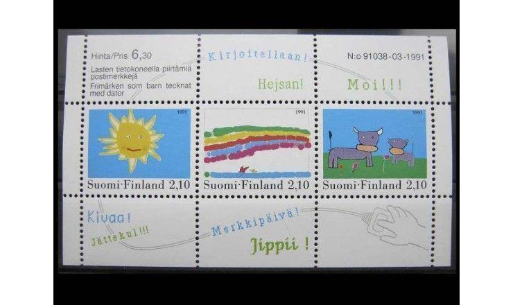 """Финляндия 1991 г. """"Детские рисунки: Конкурс живописи"""""""