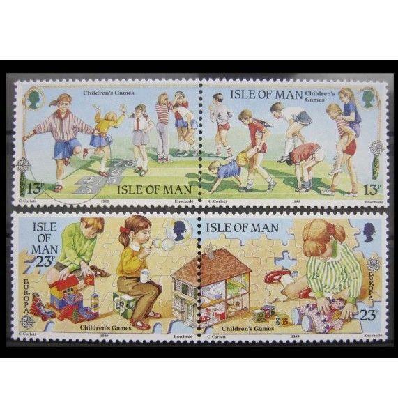 """Остров Мэн 1989 г. """"Европа: Детские игры"""""""