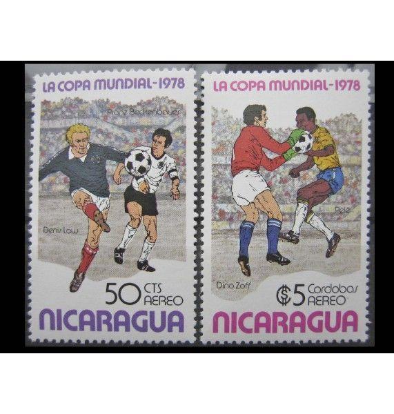 "Никарагуа 1978 г. ""Чемпионат мира по футболу, Аргентина"""