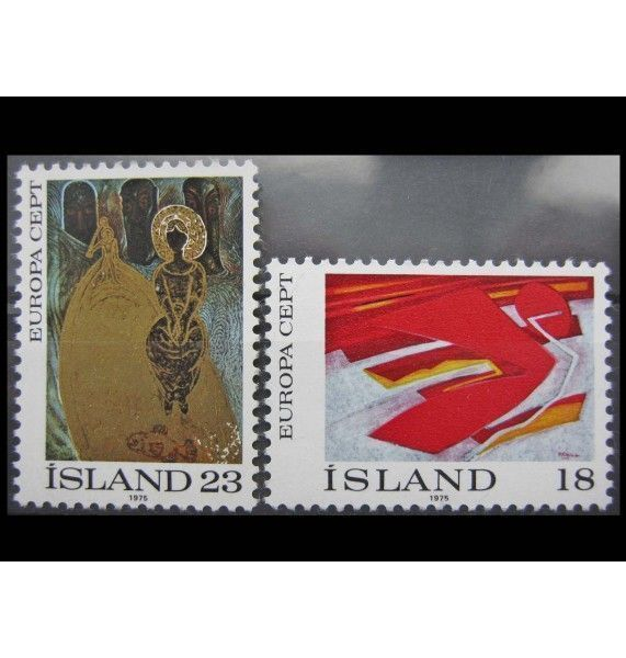 """Исландия 1975 г. """"Европа: Картины"""""""