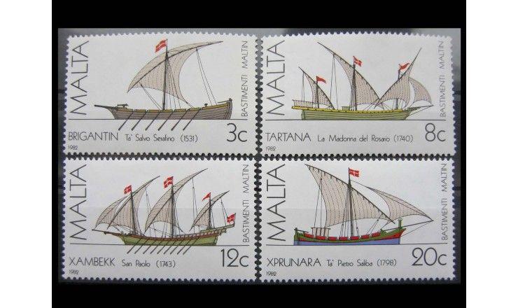 """Мальта 1982 г. """"Мальтийские корабли"""""""