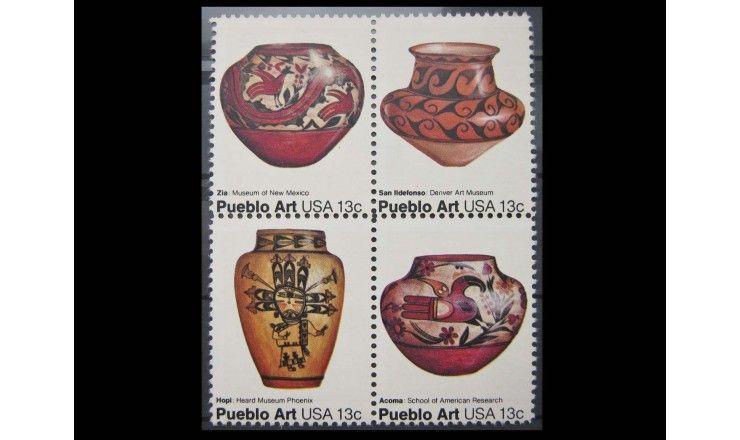 """США 1977 г. """"Гончарное искусство индейцев Пуэбло"""""""