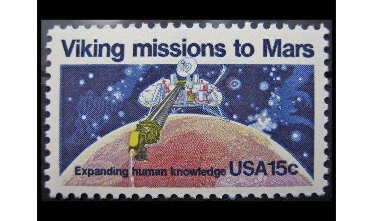 """США 1978 г. """"2-я годовщина посадки «Викинга-1» на поверхность Марса"""""""