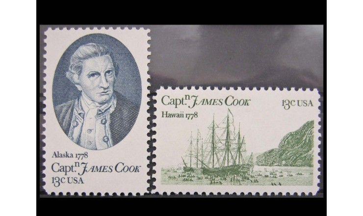 """США 1978 г. """"200-летие высадки Джеймса Кука на Аляске и Гавайах"""""""