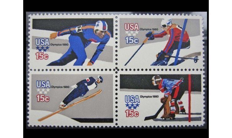 """США 1980 г. """"Зимние Олимпийские игры, Лейк-Плэсид"""""""