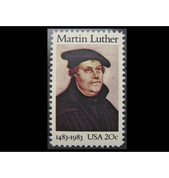 "США 1983 г. ""500-летие Мартина Лютера"""