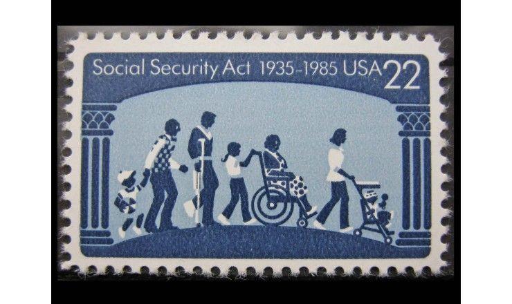 """США 1985 г. """"50-летие социального обеспечения"""""""