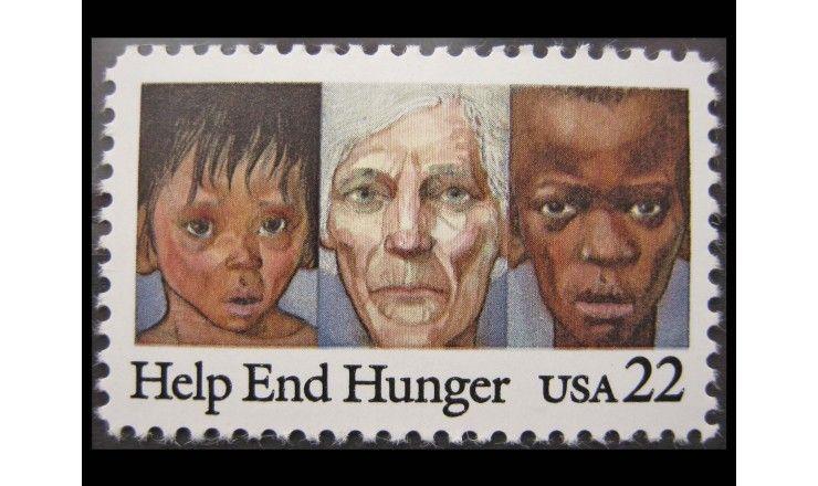 "США 1985 г. ""Борьба с голодом"""