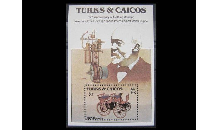 """Теркс и Кайкос 1984 г. """"150-летие Готтлиба Даймлера, Автомобили"""""""