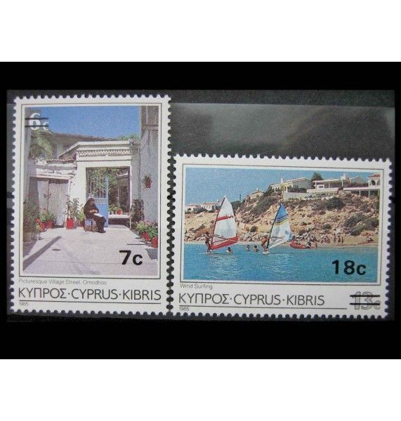 "Кипр 1986 г. ""Туризм"" (надпечатка)"
