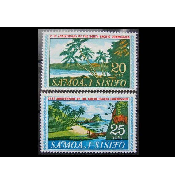 """Самоа и Сисифо 1968 г. """"21-летие основания Южно-Тихоокеанской комиссии"""""""