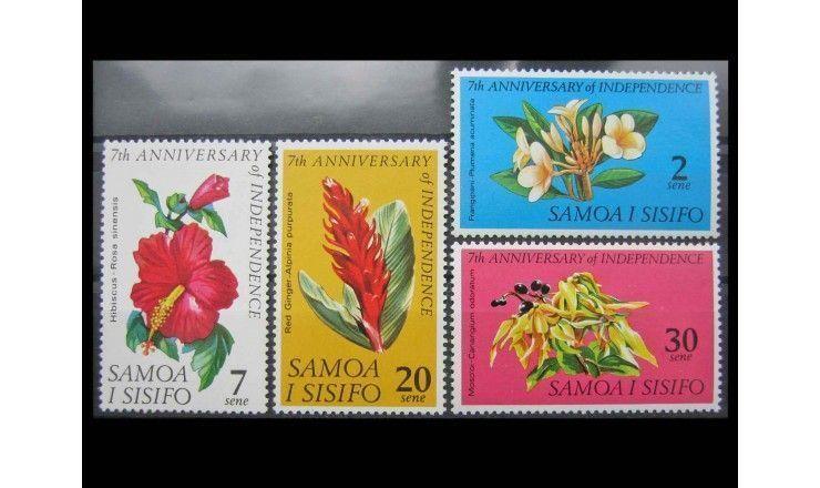 """Самоа и Сисифо 1969 г. """"7-летие независимости: Растения"""""""