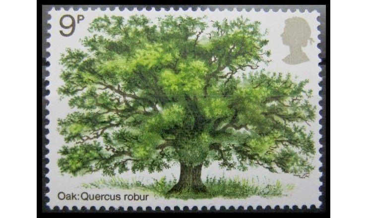"""Великобритания 1973 г. """"Год посадки деревьев; Деревья Великобритании"""""""