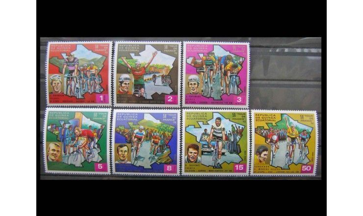 """Экваториальная Гвинея 1973 г. """"Тур де Франс"""""""