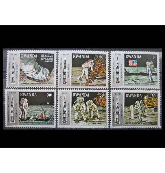 "Руанда 1980 г. ""10-летие полета «Аполлон-11»"""