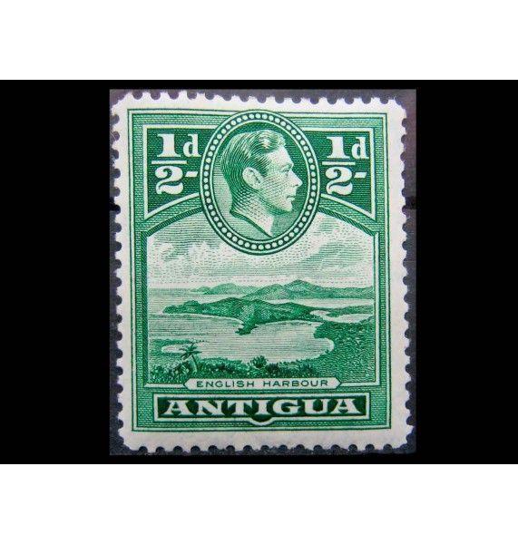 """Антигуа 1938 г. """"Ландшафты, Король Георг VI"""""""