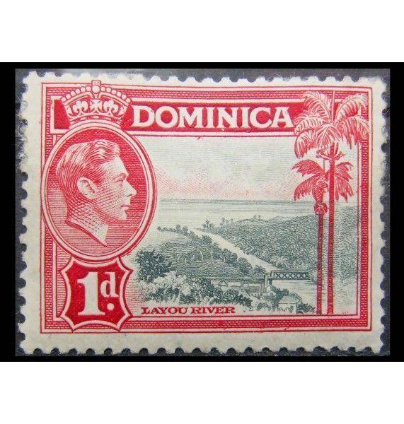 "Доминика 1938 г. ""Король Георг VI и ландшафты"""
