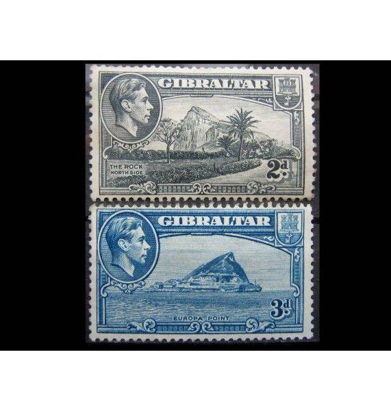 """Гибралтар 1938 г. """"Виды Гибралтара и Король Георг VI"""""""
