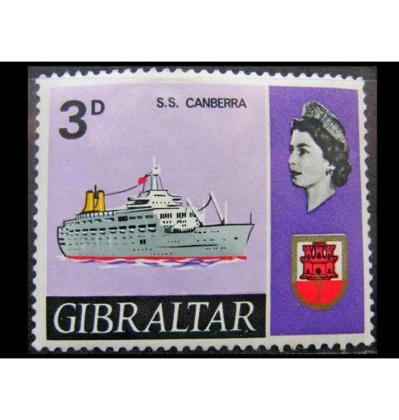 "Гибралтар 1967 г. ""Корабли и Королева Елизавета II"""