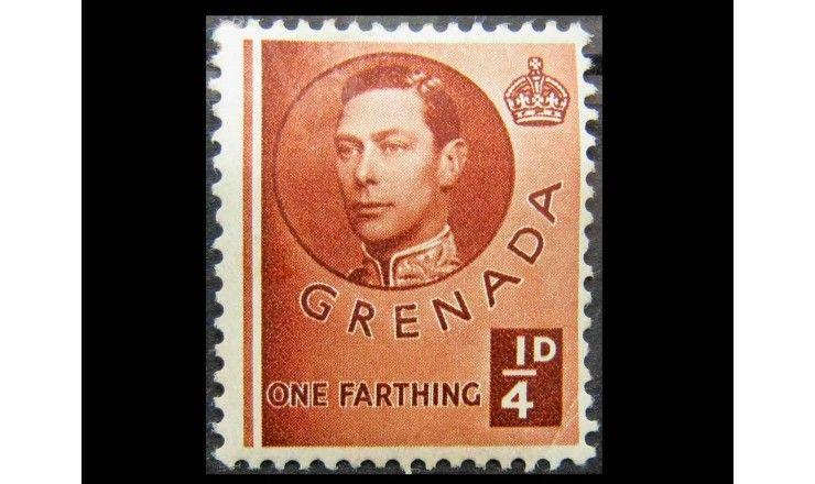 """Гренада 1937 г. """"Национальные мотивы и Король Георг VI"""""""