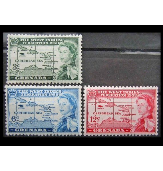"""Гренада 1958 г. """"Федерация Вест-Индии"""""""