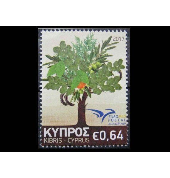 """Кипр 2017 г. """"Euromed Postal - Деревья Средиземноморья"""""""