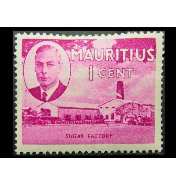 """Маврикий 1950 г. """"Король Георг VI, Национальные мотивы"""""""
