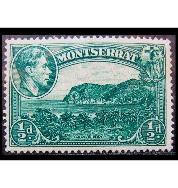 """Монтсеррат 1938 г. """"Ландшафты, Гербы, Король Георг VI"""""""