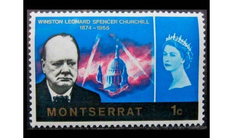 """Монтсеррат 1966 г. """"Уинстон Черчилль"""""""