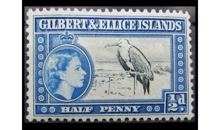 """Острова Гилберта и Эллис 1956 г. """"Королева Елизавета II"""""""