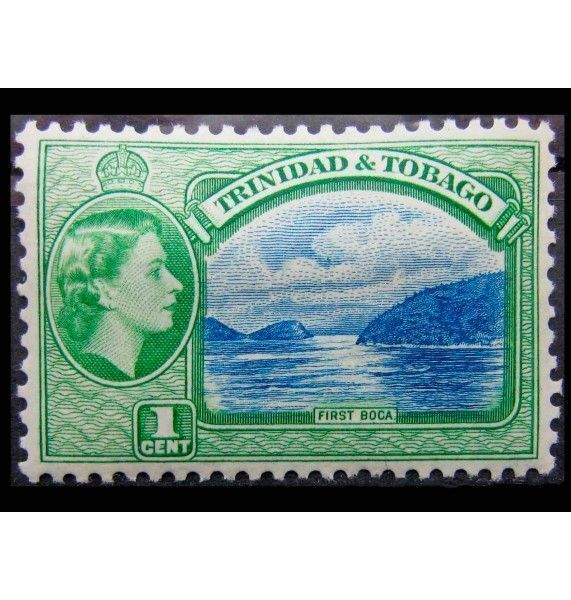 "Тринидад и Тобаго 1953 г. ""Королева Елизавета II, Ландшафты и здания"""