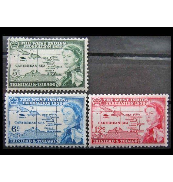 "Тринидад и Тобаго 1958 г. ""Основание Федерации Вест-Индии"""