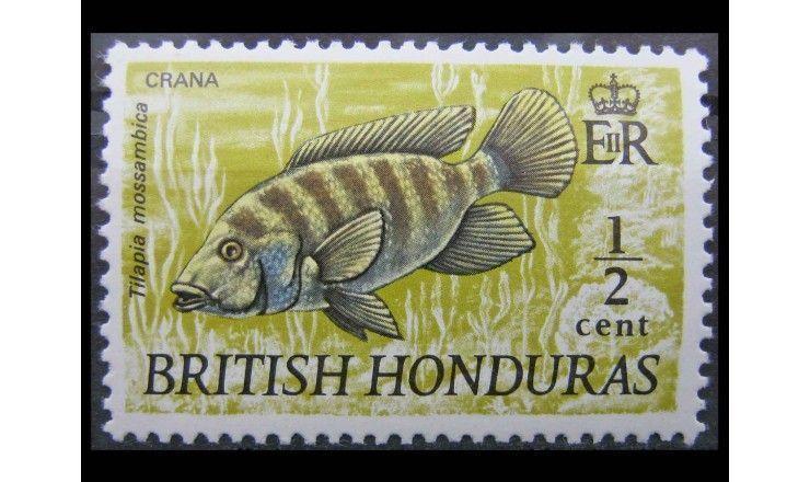 """Британский Гондурас 1971 г. """"Рыбы"""""""