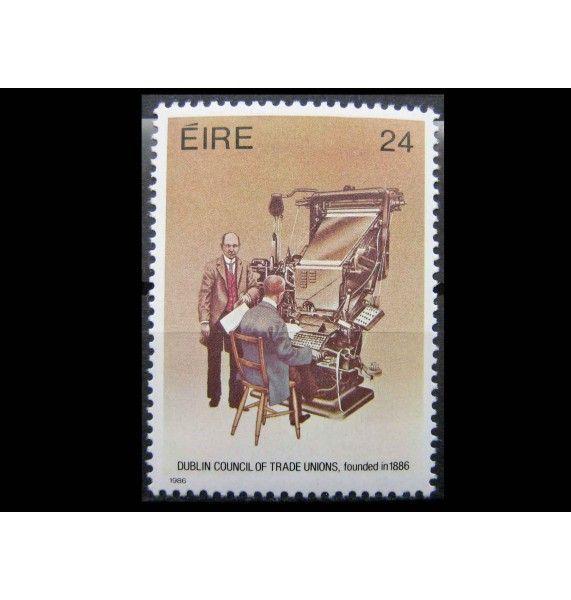 """Ирландия 1986 г. """"100-лет Дублинскому совету профсоюзов"""""""