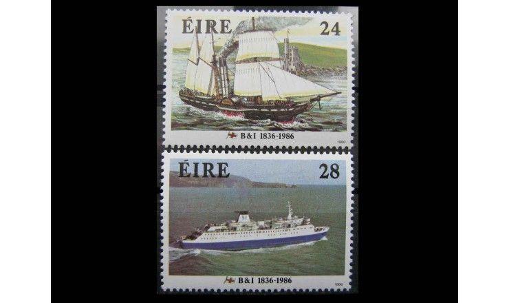 """Ирландия 1986 г. 150 лет британской и ирландской пароходной компании"""""""