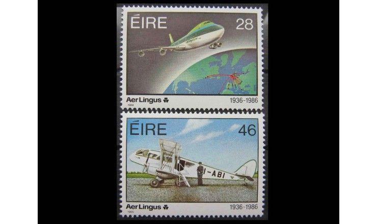 """Ирландия 1986 г. """"50-летие ирландкой авиакомпании «Aer Lingus»"""""""